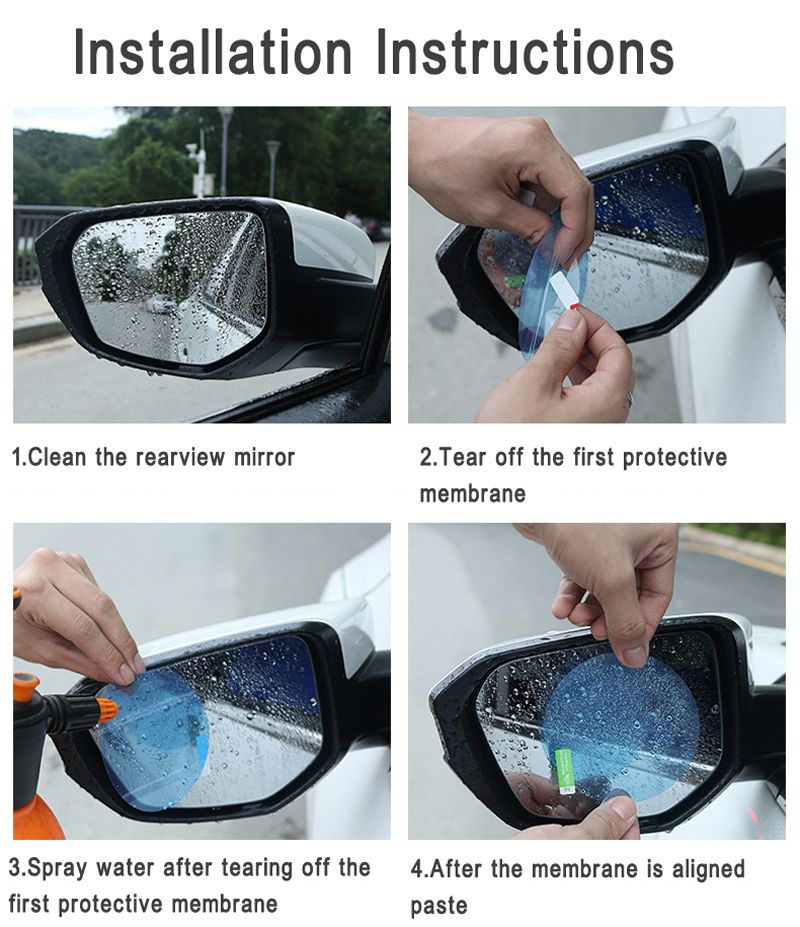 2018 New Car Side Rearview Mirror Waterproof Membrane Anti-fog Film Sticker