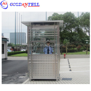 super durable single shape security cabin mechanism kiosk portable modern ticket booth / prefab kiosk