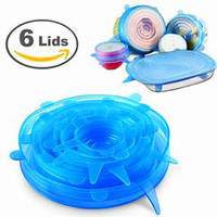 6 Pack BPA Free Reusable Stretch Silicon Food Storage Covers