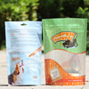 Dog treats resealable bag / flat bag for pet food / dog training treat bag