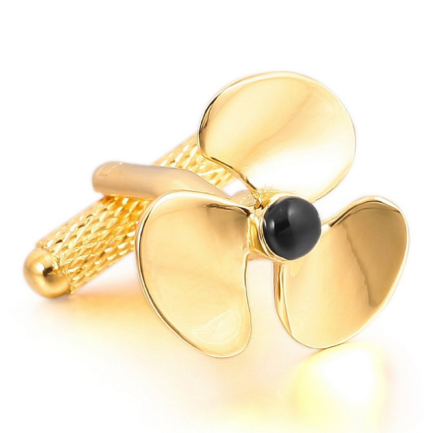Gold Propeller Tie Clip Men/'s Accessories Gift Moving Spinner