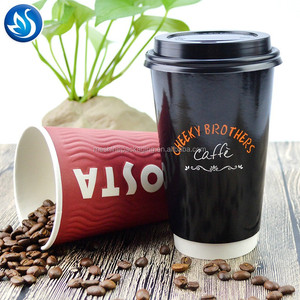 Best sale fancy double wall paper coffee cup with logo