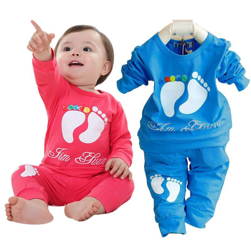 927db78c197 Get Quotations · Hot sale baby clothing set brand baby clothes sets toddler girl  boy shirt + pants long