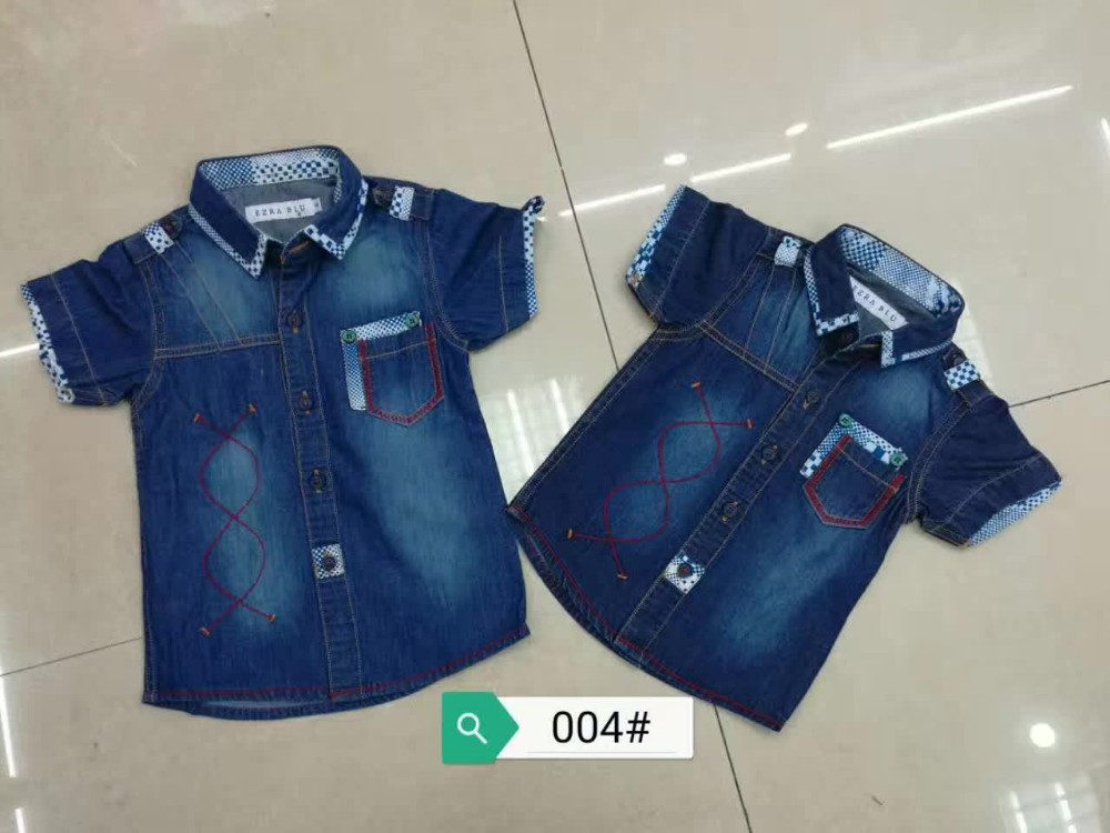 29a7d95252c 2017 New arrival Wholesale Summer kids jeans new style fashion kids boys  denim T-shirt