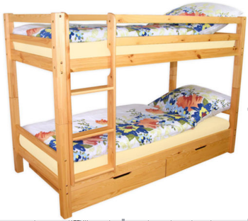 2015 Kids White Solid Wood Bunk Bed Hot Selling Modern Children