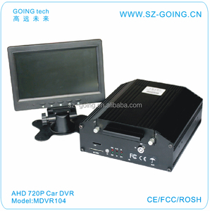 GOING tech new products 720P AHD car dvr camera 7X24 hours recording system solar powered