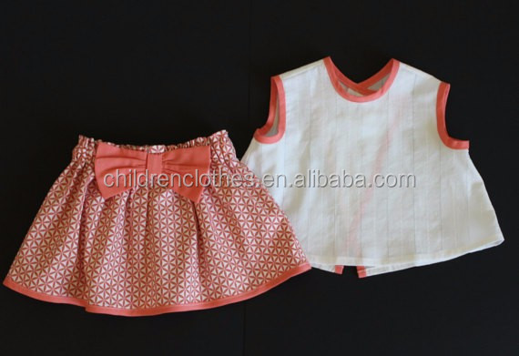 8e28a106c613 Little Baby Girl Outfit 2 Piece Set Skirt And Shirt Pink Girl Short Sleeve  Outfits