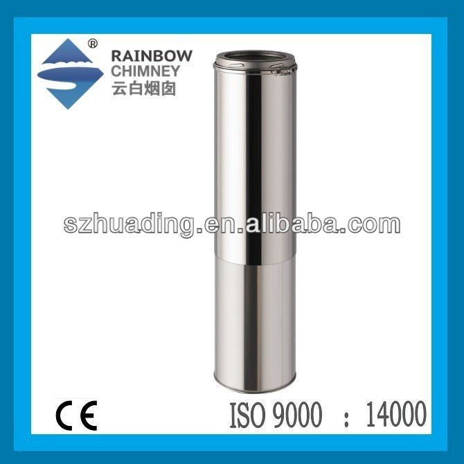 CE/UL stainless Adjustable Length stainless steel pipe for fireplace stove