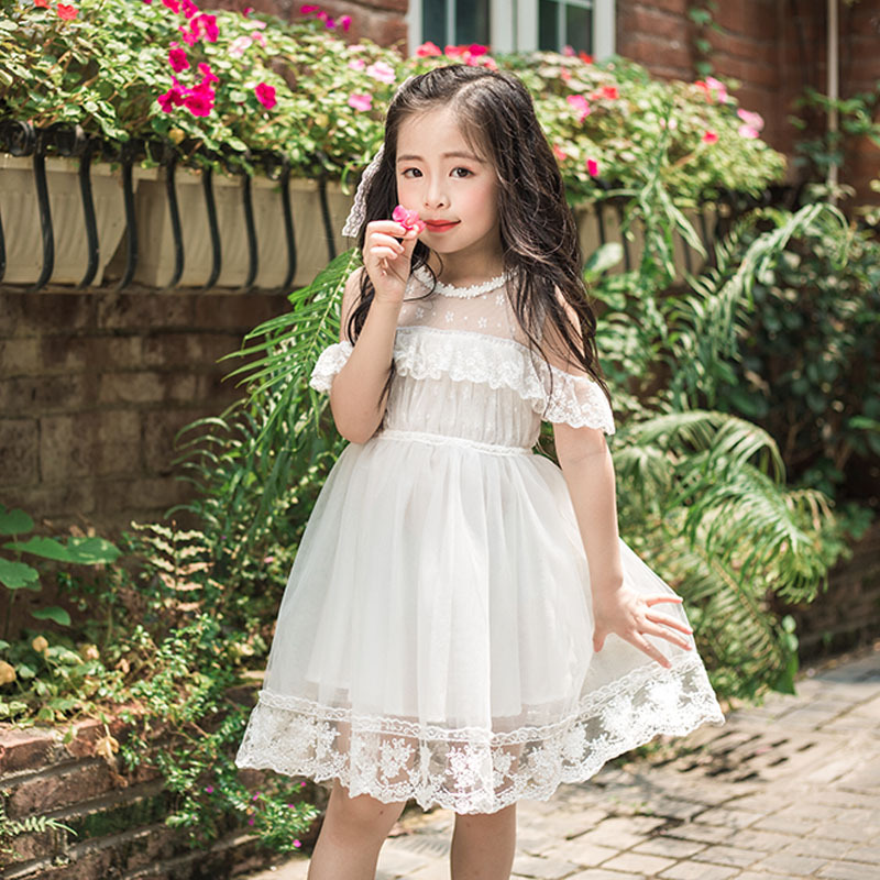 fd43e5c4c New Summer Baby Girl Toddler Lace Clothing Dress For Infant Floral ...