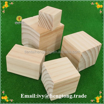 Wholesale wooden cube cheap wood blocks natural unfinishes for Wholesale wood craft cutouts