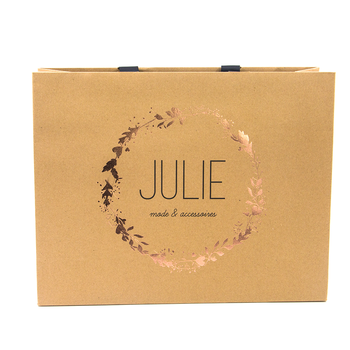 Colored Elegant Advertising Kraft Paper Bag Design View Advertising