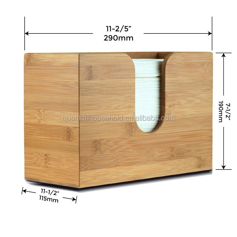 Bamboo Wall Mounted Paper Towel Dispenser