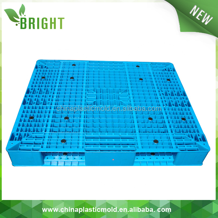 Acciaio rinforzato pallet in plastica made in china double face hdpe pallet