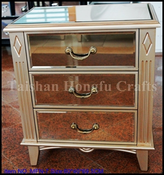2015 New Design Antique Mirror Cabinet,Bedside Table,Mirror ...