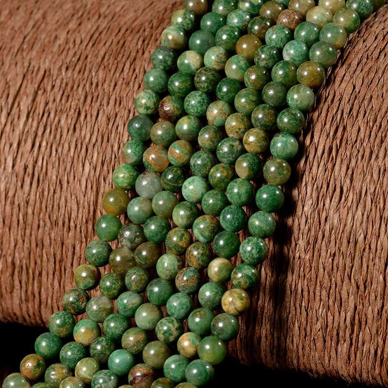 Wholesale A Grade Gemstone African Jade Round Stone Beads For Jewelry Making фото
