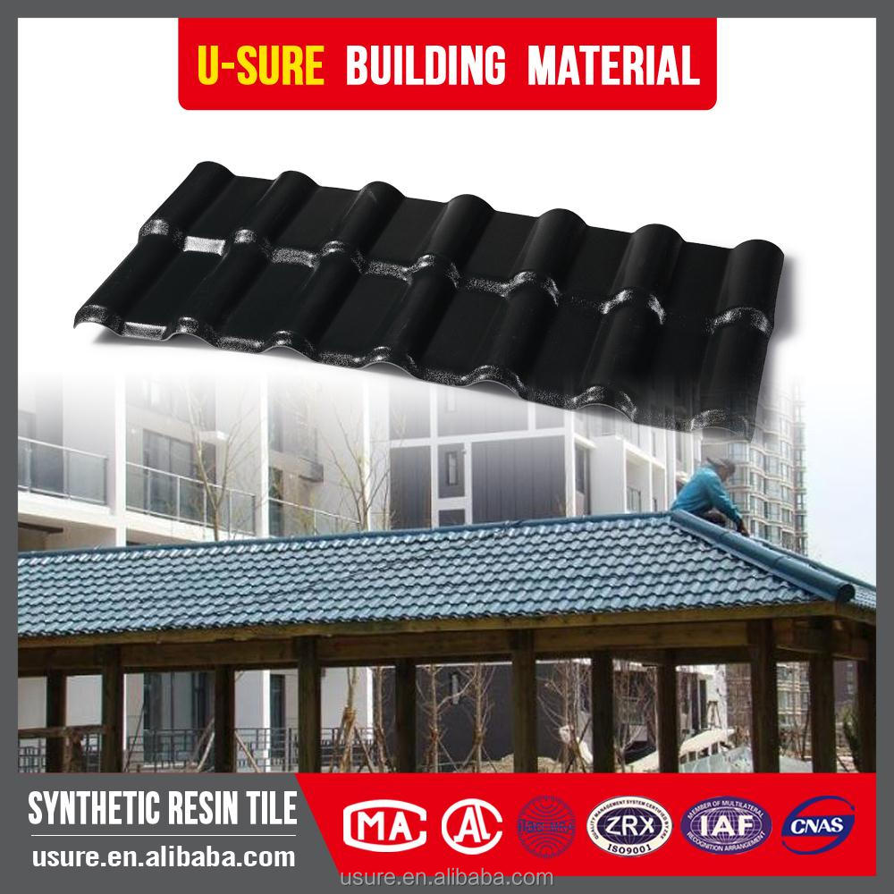 Warehouse Sun sheds high quality pvc roof tiles synthetic tiles promotion