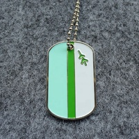 soft enamel bright color durable customized metal men dog tag necklace