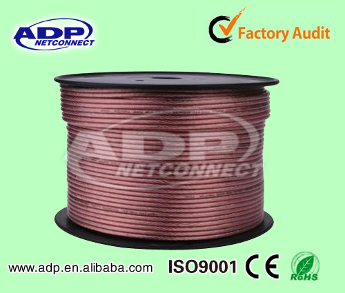 1.5mm flat pure copper speaker wire 12 gauge speaker cable