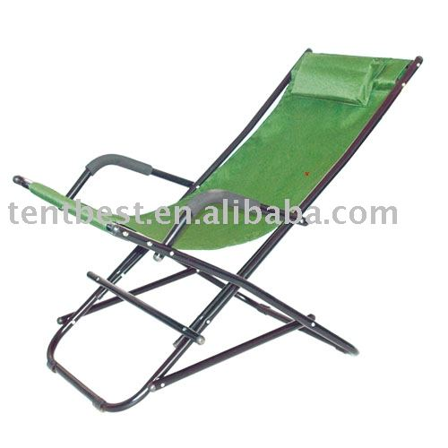 Durable outdoor steel chair with sun shade