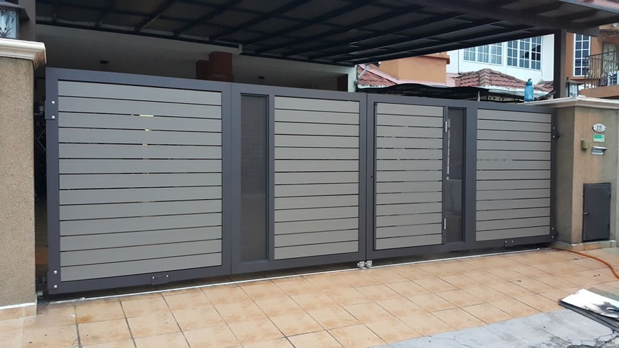 Modern Main Gate Design With Different Colorssteel Tubular Grill