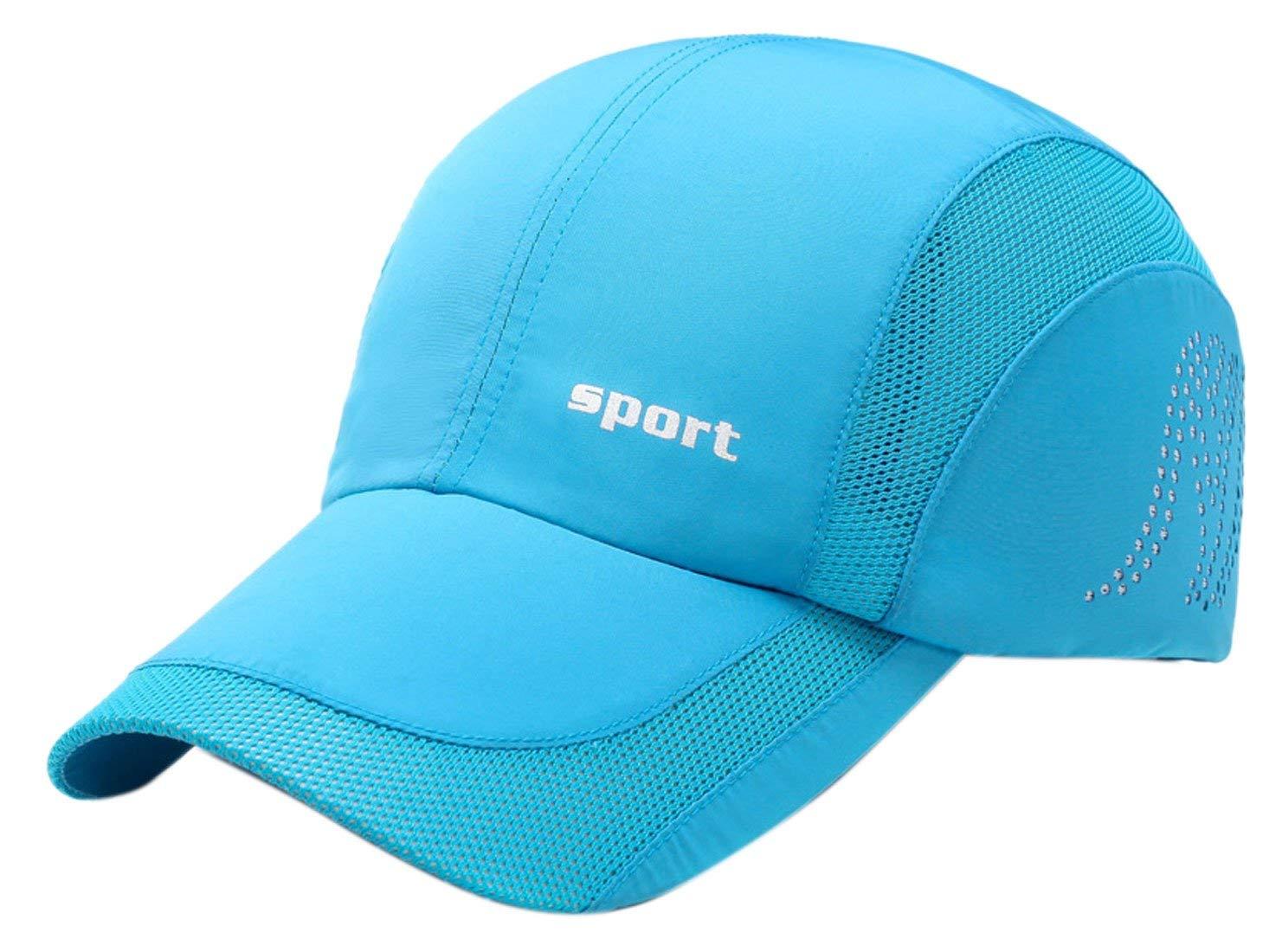 6eed03a4fc9 Get Quotations · Panegy Men Women Sports Hat Quick Drying Mesh Sun Cap  Lightweight Sun Runner Cap