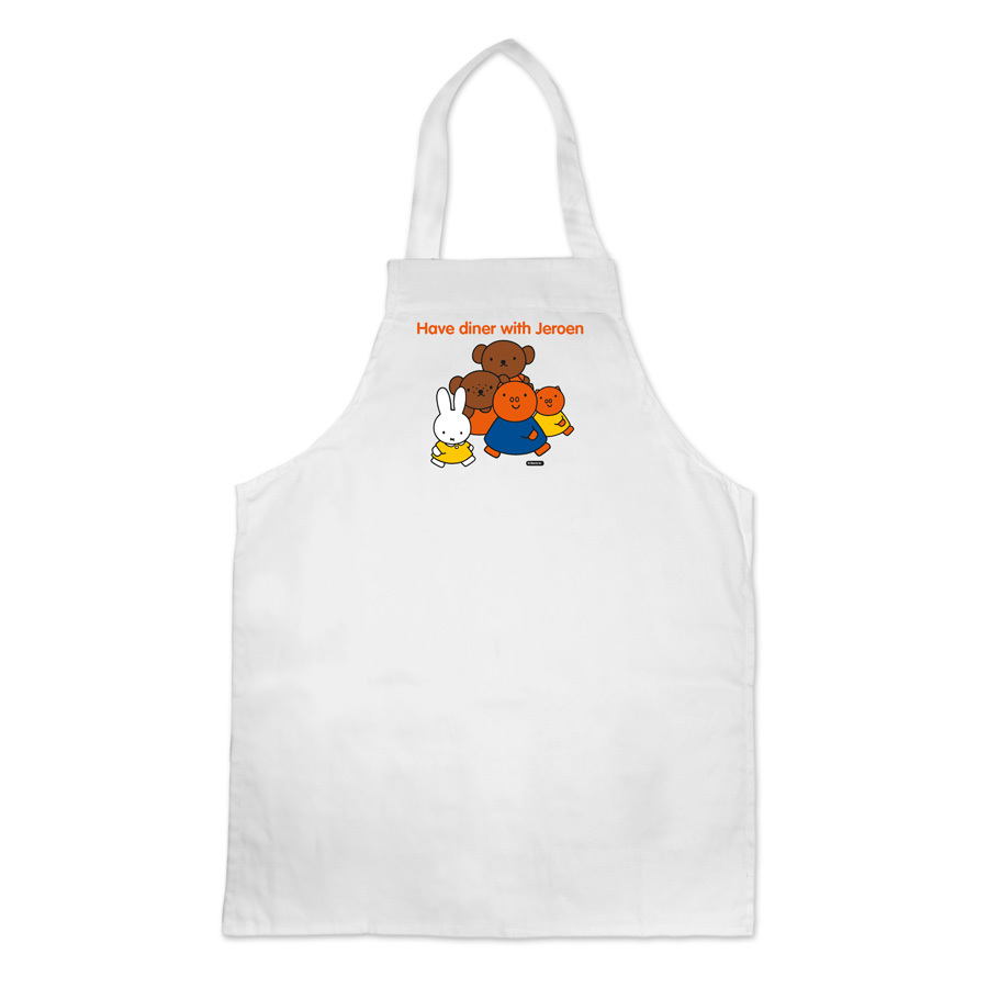 children white cotton apron