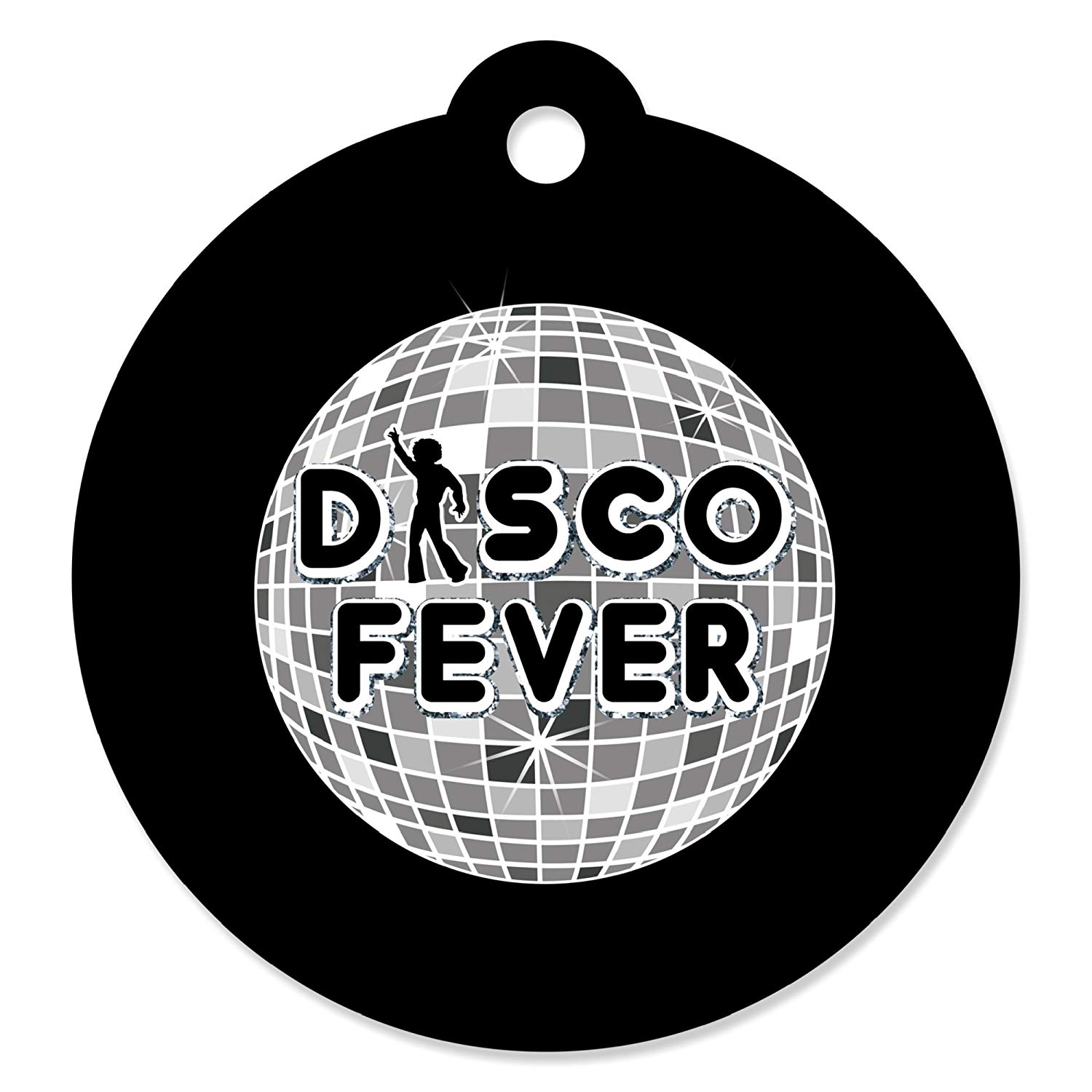 1970s Disco Fever Party Water Bottle Sticker Labels 70s Disco Set of 20