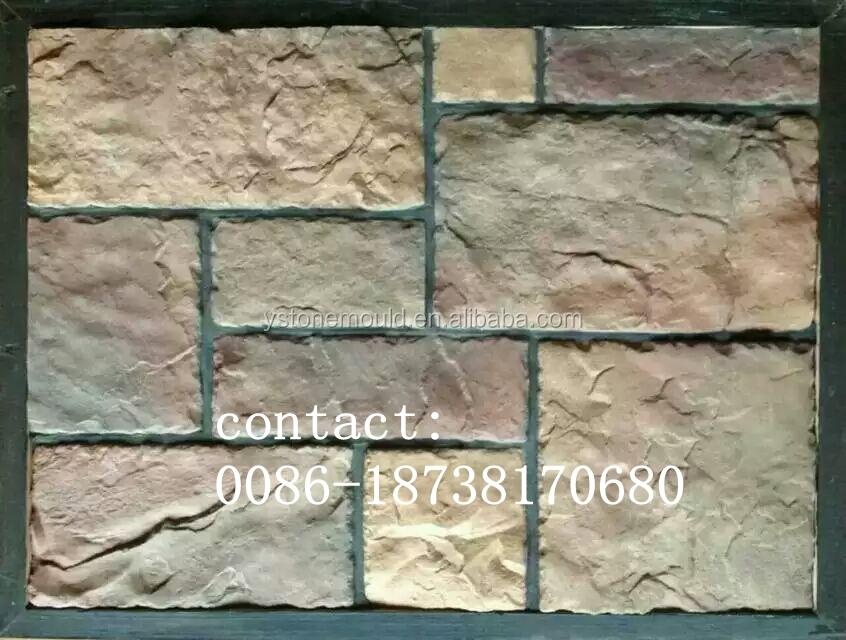Piedra de la cultura artificial paneles de pared piedras - Moldes para piedras artificiales ...
