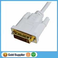 Mini DP to DVI Male Cable Adapter For PC Monitor HDTV Connection Mini DP Male to DVI Male Cable