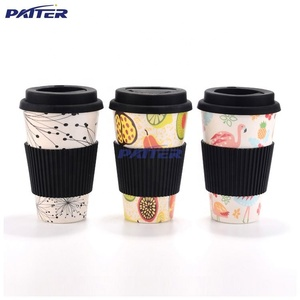 Fashion design different colors Wood Metal material coffee bottle cup bamboo coffee mug