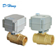 Shanghai Supplier 3 Way Electric Valve Actuator Motorized Controller Brass Ball Valve