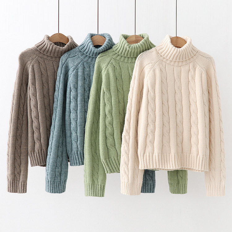 2020SS ladies wool cashmere sweater knitted turtleneck jumpers sweater for women