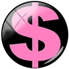 TAFREE круглая форма Знак доллара США символ 25 мм DIY стекло кабошон купол картинки для брелока ожерелья Аксессуары(Китай)