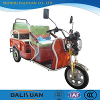 Daliyuan electric cargo passenger three wheel motorcycle india with steering wheel