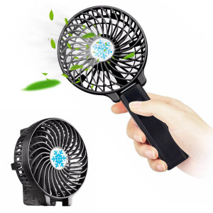 Summer 3 Speed Outdoor Cool Cooling folding lightweight Portable Handheld Desk electric rechargeable USB Mini Fan with LED Light