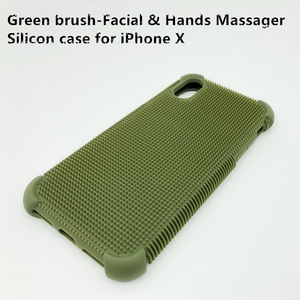 Brush-Facial & Hands Massager Silicon Case for iPhone X