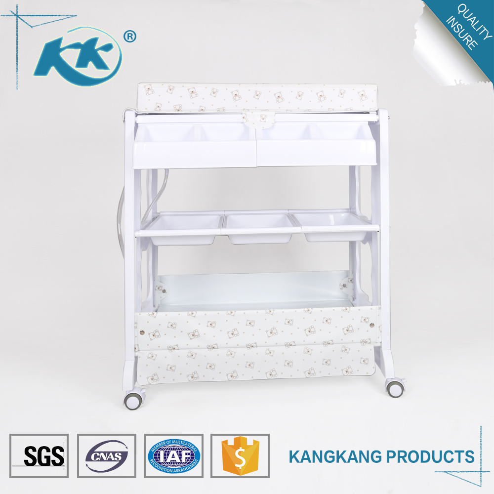 Best price plastic portable folding diaper stand set baby changing table with bath tub