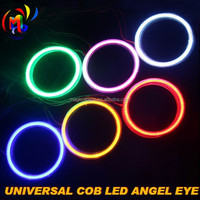 Xenon White COB-Type High Power LED Halo Rings For Headlights Demon/Angel Eyes Retrofit DIY