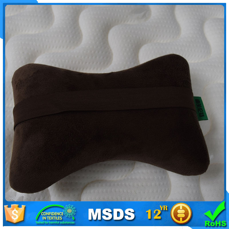 China factory specialized in producing bone shaped neck pillow ,Dog Bone Shape Memory Foam Car Neck Pillow