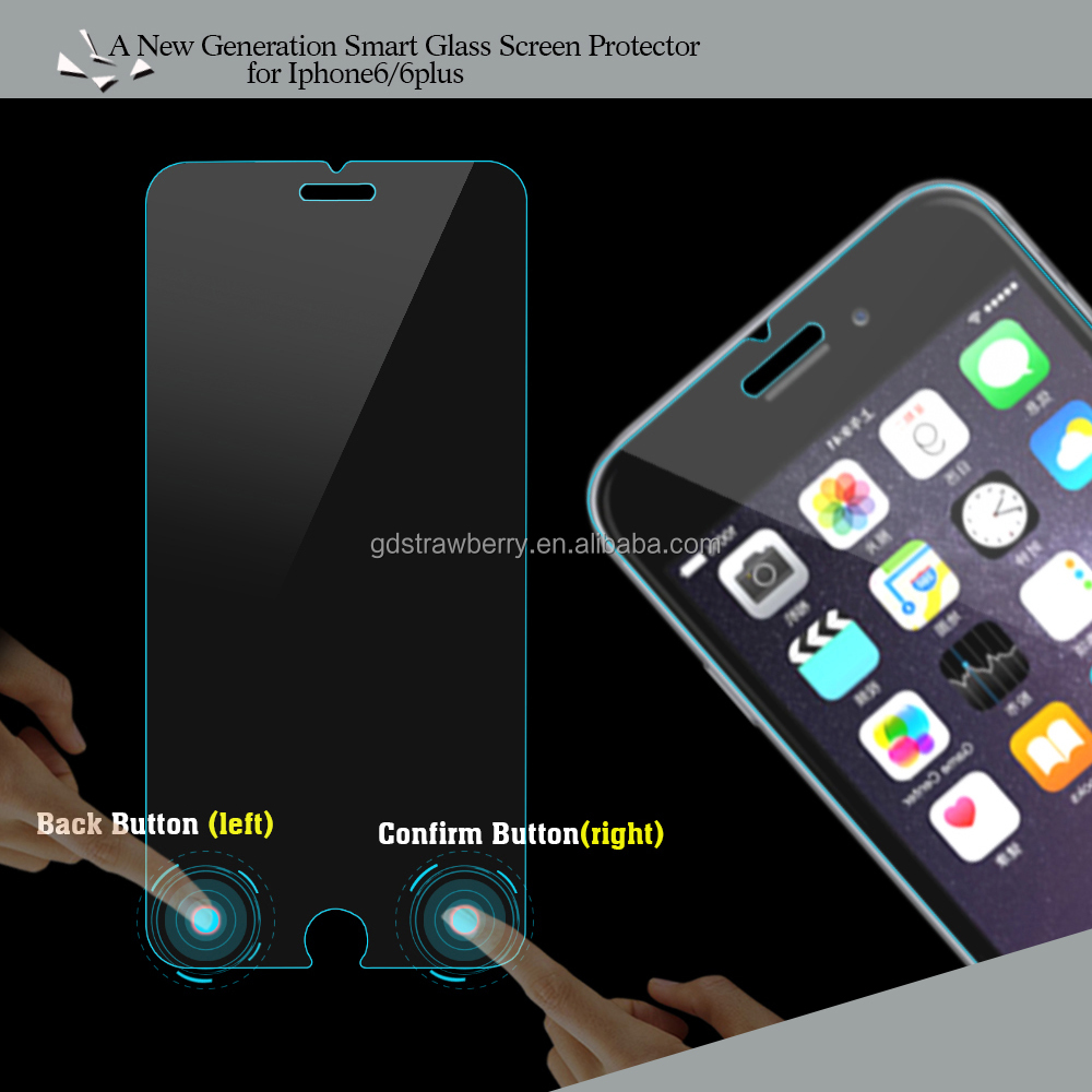 Smart touch Phone HD Tempered glass screen protector for iphone 6 with 9H hardness Anti scratch Anti-bacterial Anti blue light