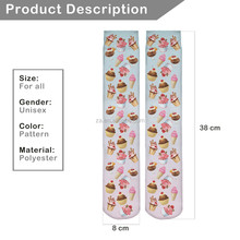 China Supplier Unique Design sublimation print knit stocking with high quality