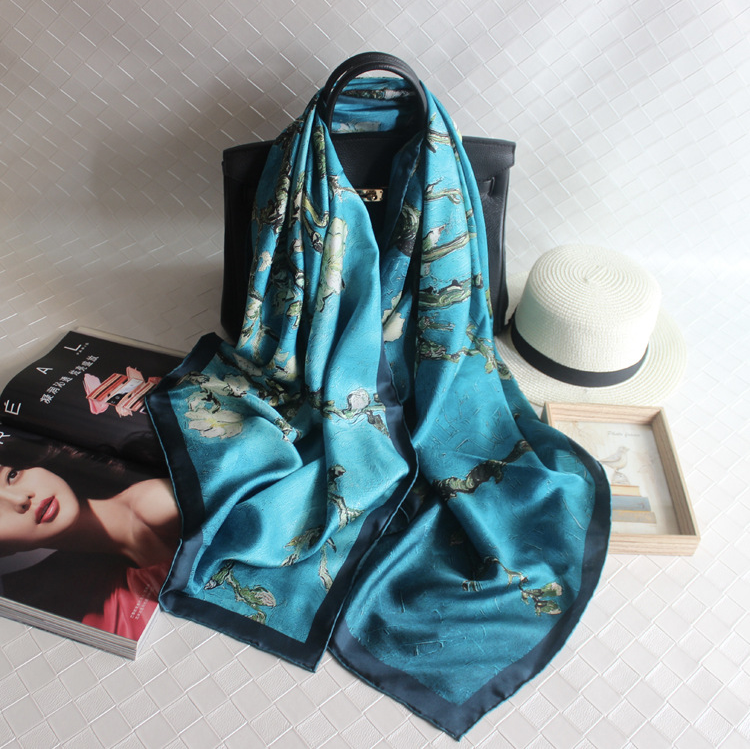 China wholesale high quality silk georgette scarf