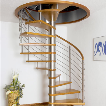 Circle Stairwell Stair Wood Steps Spiral Staircase Loft Stairs