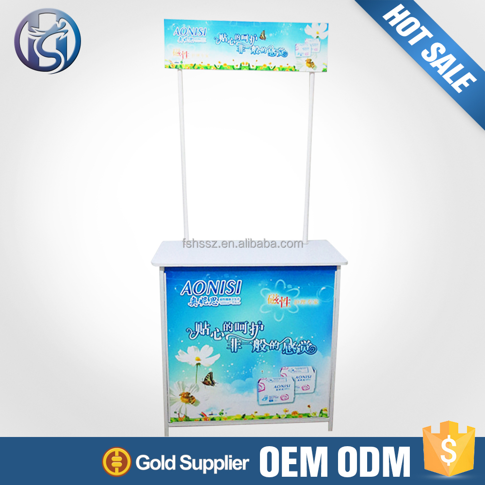 Factory Direct Sale Outdoor Booth Promotion Sampling Table The Demos