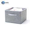 Living room non woven folding gray fabric storage cubes