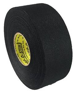 """1 Roll of Comp-O-Stik BLACK Hockey Lacrosse Bat Cloth Stick Tape (1.5"""" x 30 yards) ATHLETIC TAPE Made In The U.S.A. (3X SIZE OF STANDARD ATHLETIC TAPE)"""