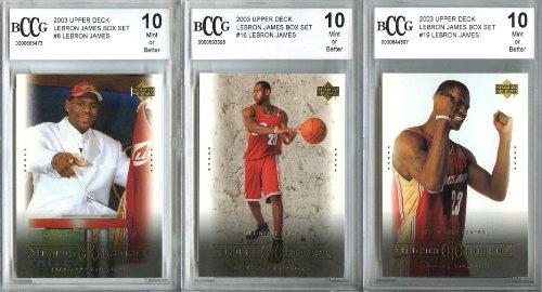 Buy 2003 Upper Deck Lebron James Rookie Collection Of Three