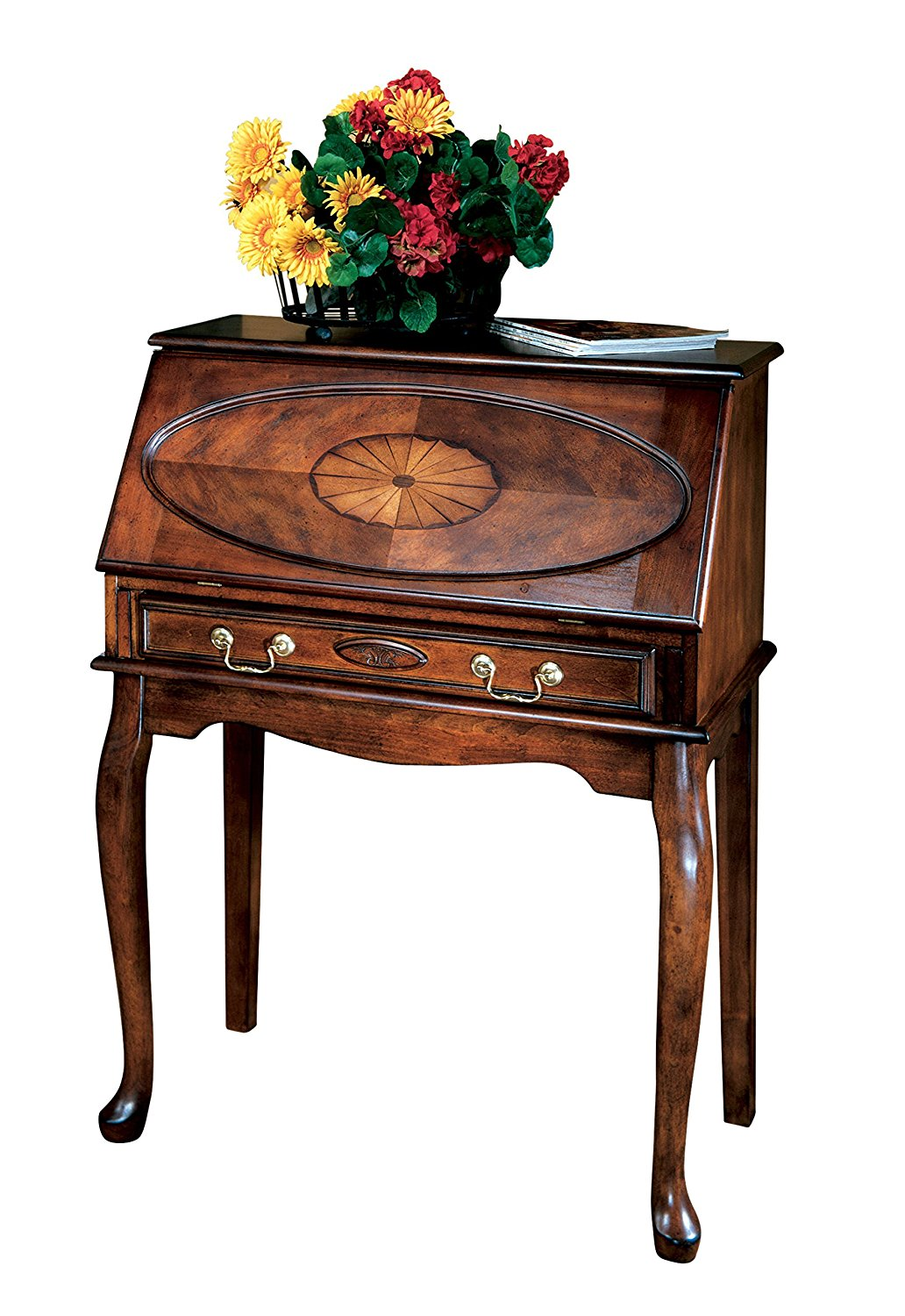 Home Office Secretary Desk Good for Dining Room, or Living Room Office Beutiful Brown Color, Good for Small Space Bedroom