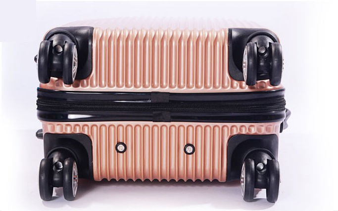 Wholesale fashion travel luggage trolley case, rotatable luggage trolley wheel airport travel case