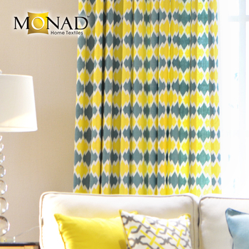 Energetic And Cute Living Room Fabric Curtain Raw Material